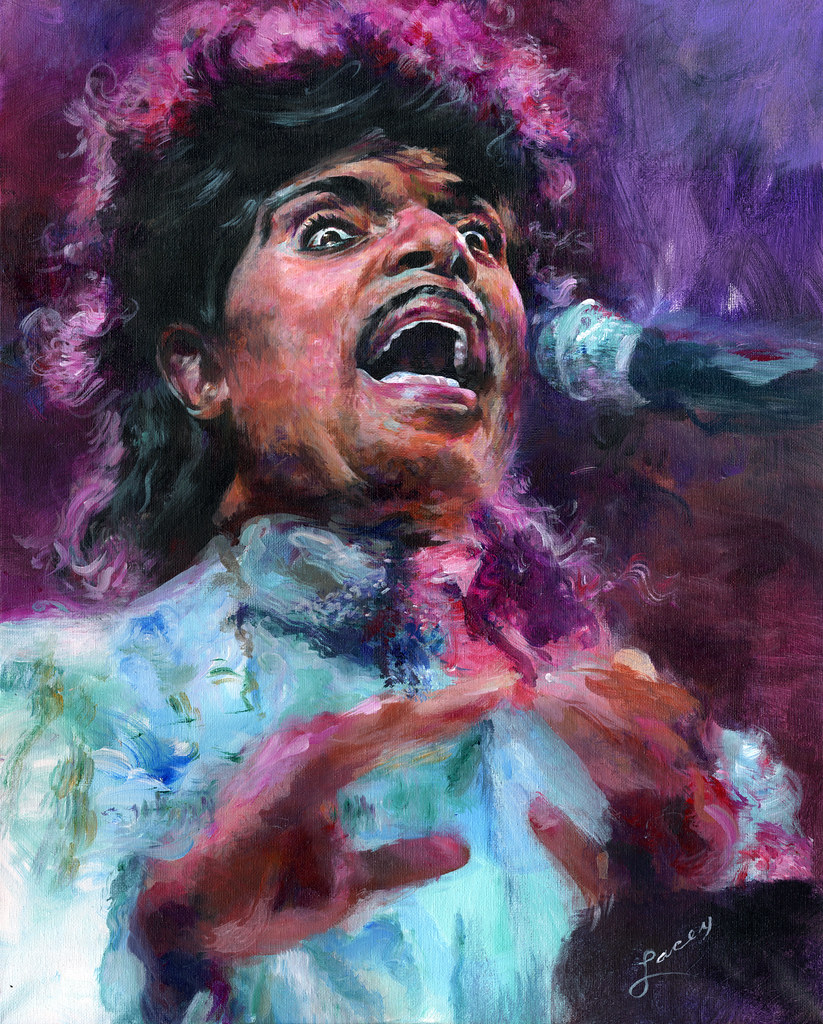 """Little Ricard creative rendition (""""Little Richard Tribute Portrait"""" by Dan Lacey is licensed under CC BY-NC 2.0)"""