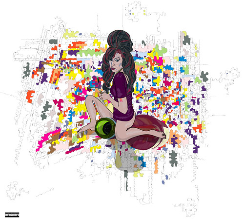 """Amy Winehouse (""""Amy Winehouse by nerosunero"""" by nerosunero is licensed under CC BY-NC-SA 2.0)"""